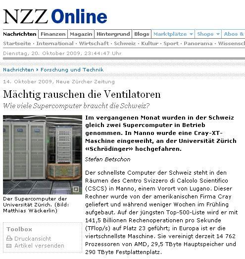 NZZ online HCPN