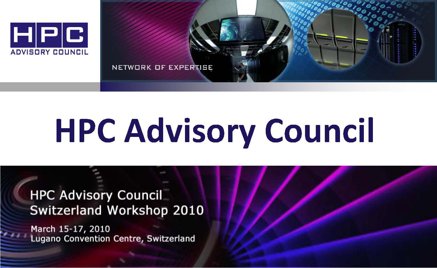 Slides HPC Advisory Council Now Online