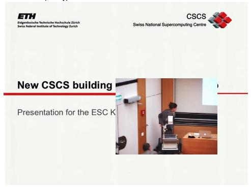 "ESC Colloquia ""Neubau CSCS in Lugano Cornaredo"" online"