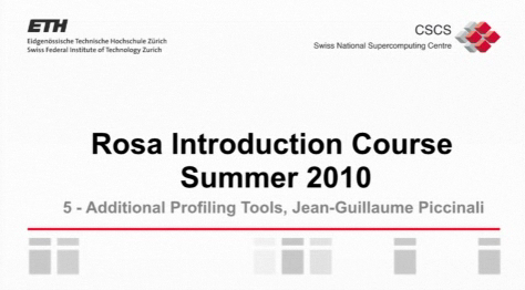 Videos Rosa Introduction Course Summer 2010 Now Online
