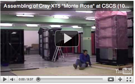 Datacenter Knowledge reporting on Video with the Assembling of Monte Rosa
