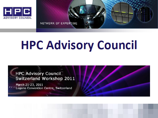 Slides of HPC Advisory Council Workshop in Lugano Online