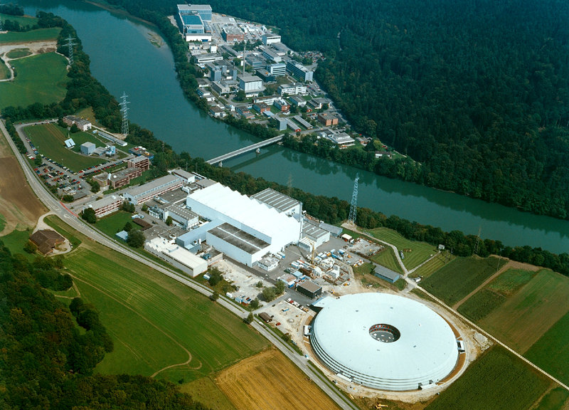 The Swiss Light Source (SLS) at the Paul Scherrer Institut (areal view)