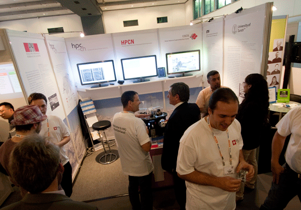 Booth of hpc-ch at ISC'11 Presenting HPC activities in Switzerland