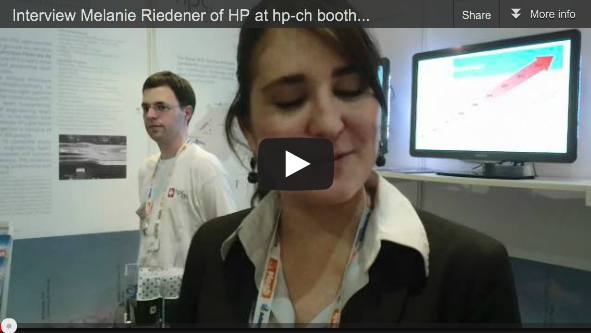 Interview with Melanie Riedener of HP Visiting the hpc-ch Booth