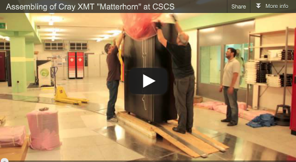 "Cray XMT ""Matterhorn"" Up and Running at CSCS"
