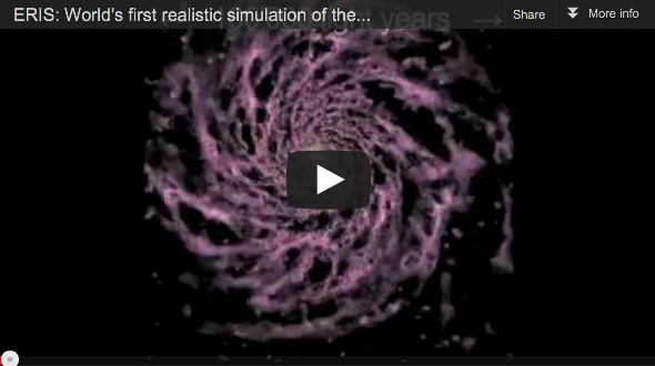 First Realistic Simulation of the Formation of the Milky Way Computed at CSCS