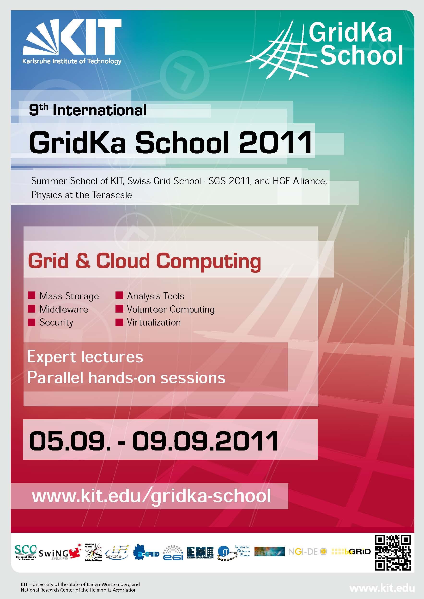 GridKa School 2011 co-organized by SwiNG