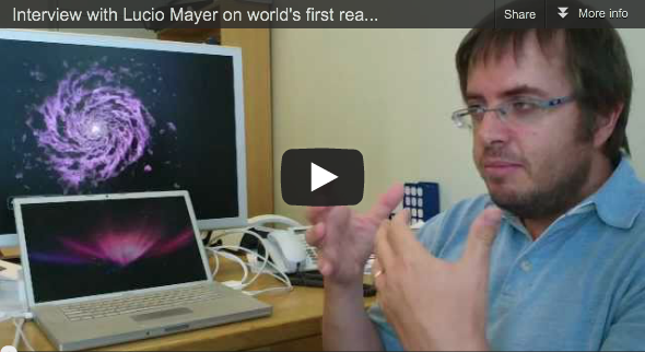 Interview with Lucio Mayer About the First Realistic Simulation of the Birth of our Galaxy