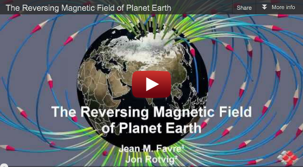 Swiss Contribution to SC11 Scientific Visualization Showcase: Reversing Magnetic Field of Planet Earth