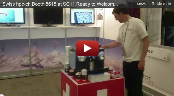 Swiss hpc-ch Booth 5615 at SC11 Ready to Welcome You