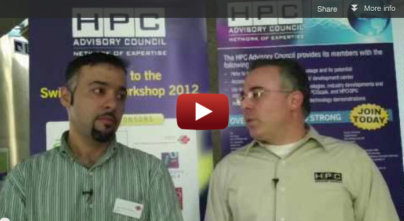 Gilad Shainer and Hussein El-Harake comment the HPC Advisory Council Switzerland Conference 2012