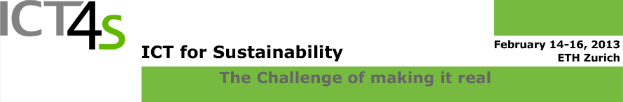 Call for Registration: First International Conference on ICT for Sustainability ICT4S in Zurich