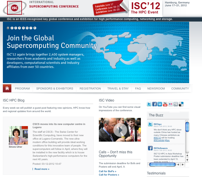 ISC Events and ETH Life Reporting about move of CSCS