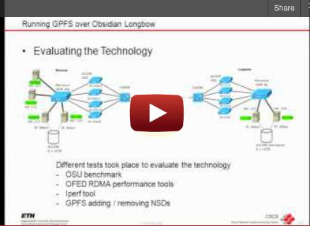 Slidecast: Running GPFS over Obsidian LongBow, Hussein N. Harake