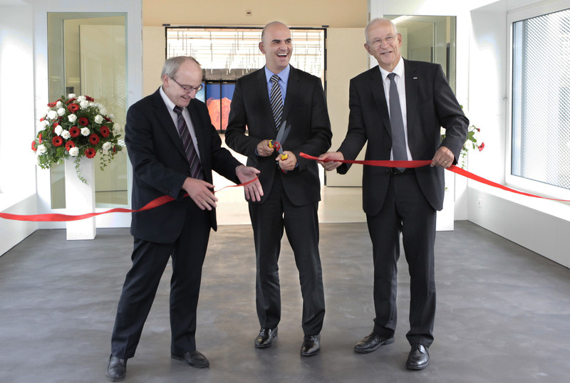 Inauguration of new CSCS building by Federal Coucillor Berset