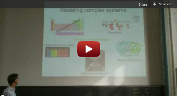 "Video from 41st SPEEDUP Workshop: Joost VandeVondele on ""Sparse matrix matrix multiplication for linear scaling DFT"""