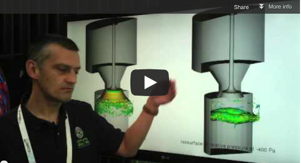 Video:  Direct Numerical Simulation of Flow in Engine-Like Geometries