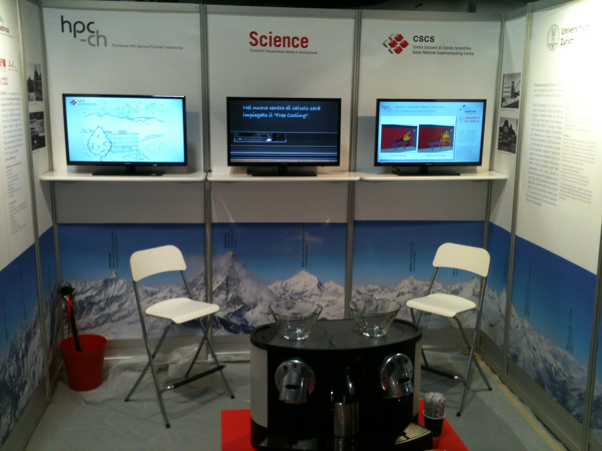hpc-ch booth #2435 ready for SC12