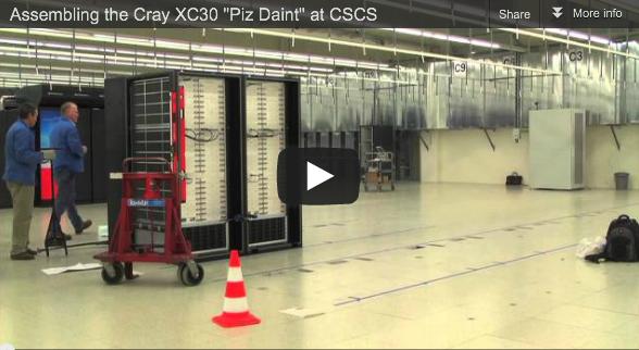 "Video: Assembling of the Cray XC30 ""Piz Daint"" at CSCS"
