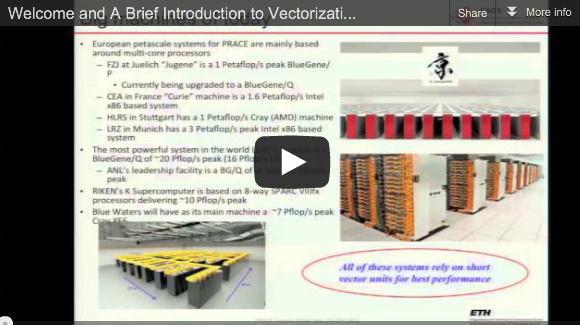 Slidecast 1/3 – PRACE Summer School on Code Optimisation for Multi-Core and Intel MIC Architectures – Introduction to Vectorization