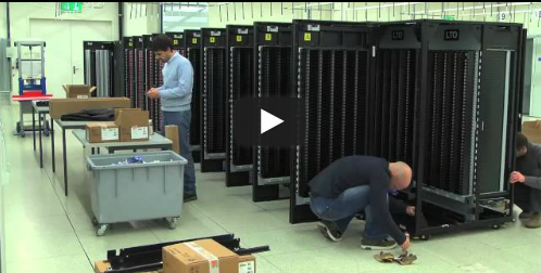 Installation of the IBM TS3500 tape library at CSCS