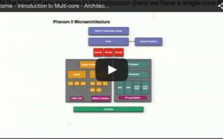 Multicore course 1