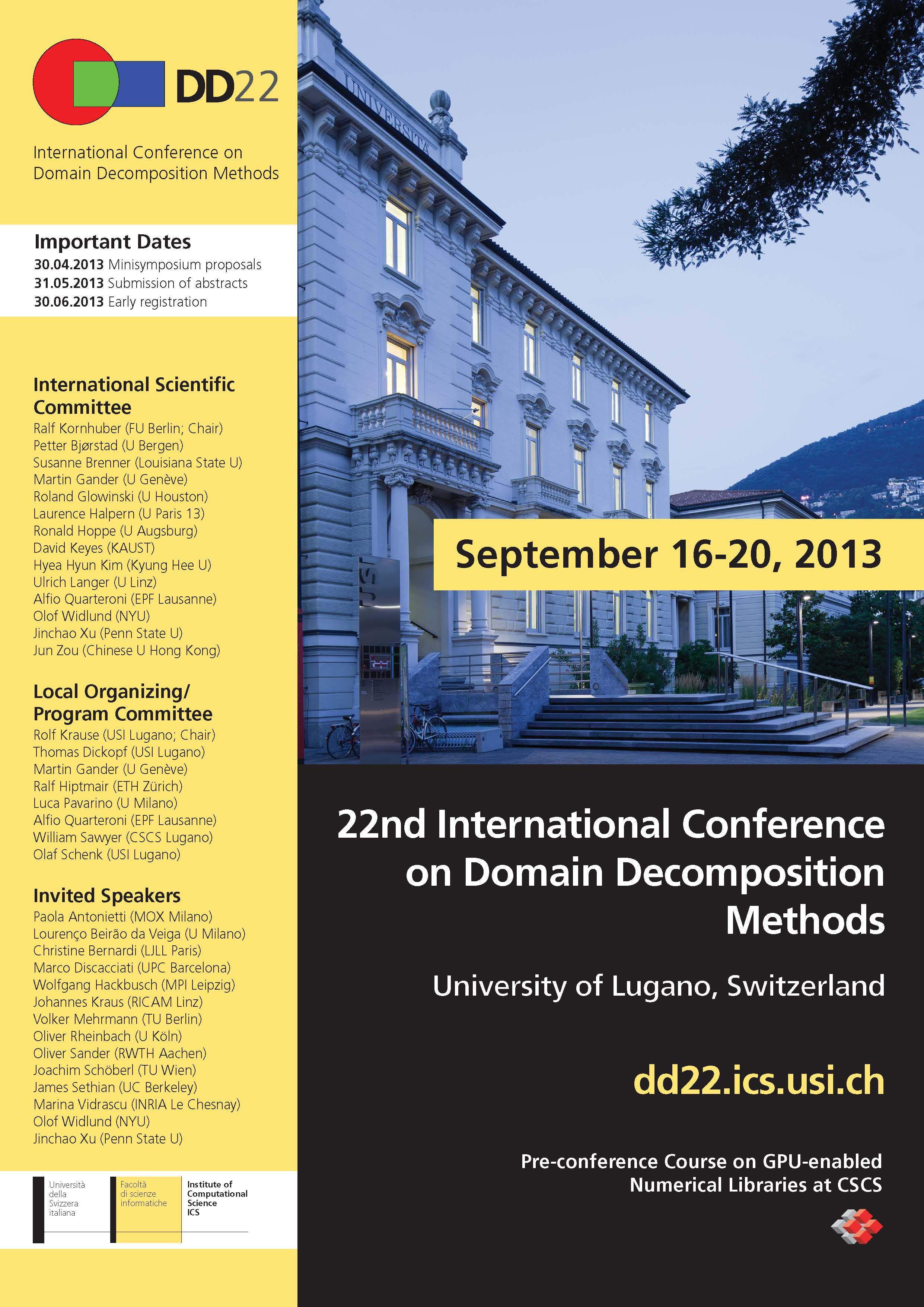 22nd International Conference on Domain Decomposition Methods – 16 ...