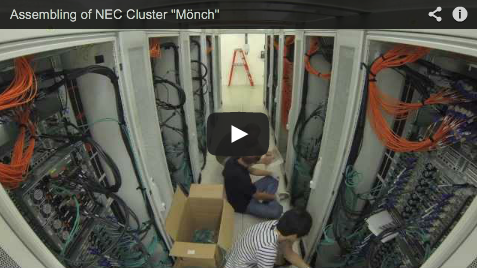"Video: Assembling of NEC Cluster ""Mönch"" at CSCS"
