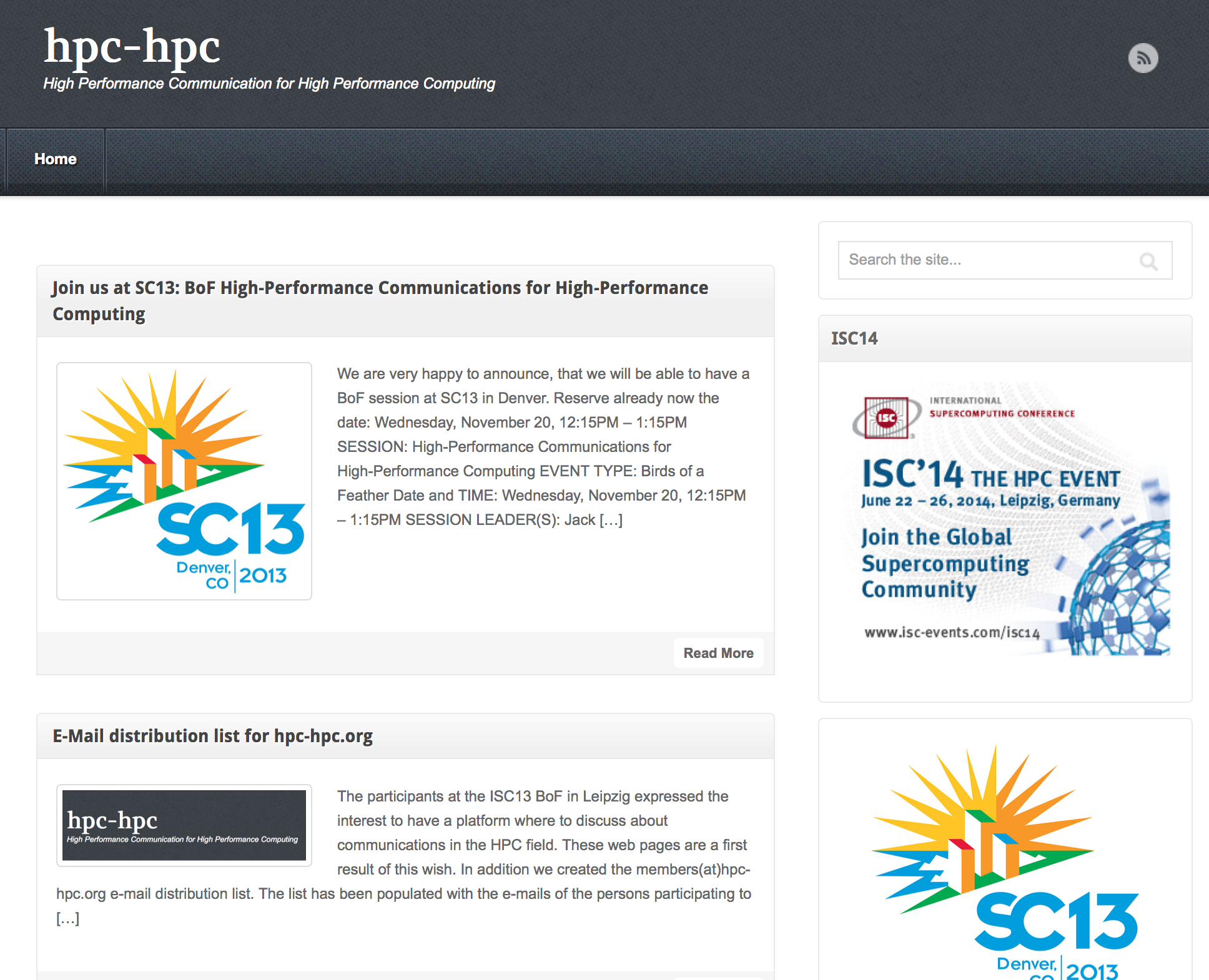 Join us at SC13: BoF High-Performance Communications for High-Performance Computing
