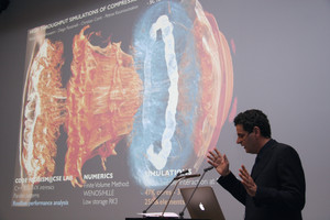 "During the PASC Conference ETH professor Petros Koumoutsakos gave a public lecture on the ""Arrow of Computational Science""."