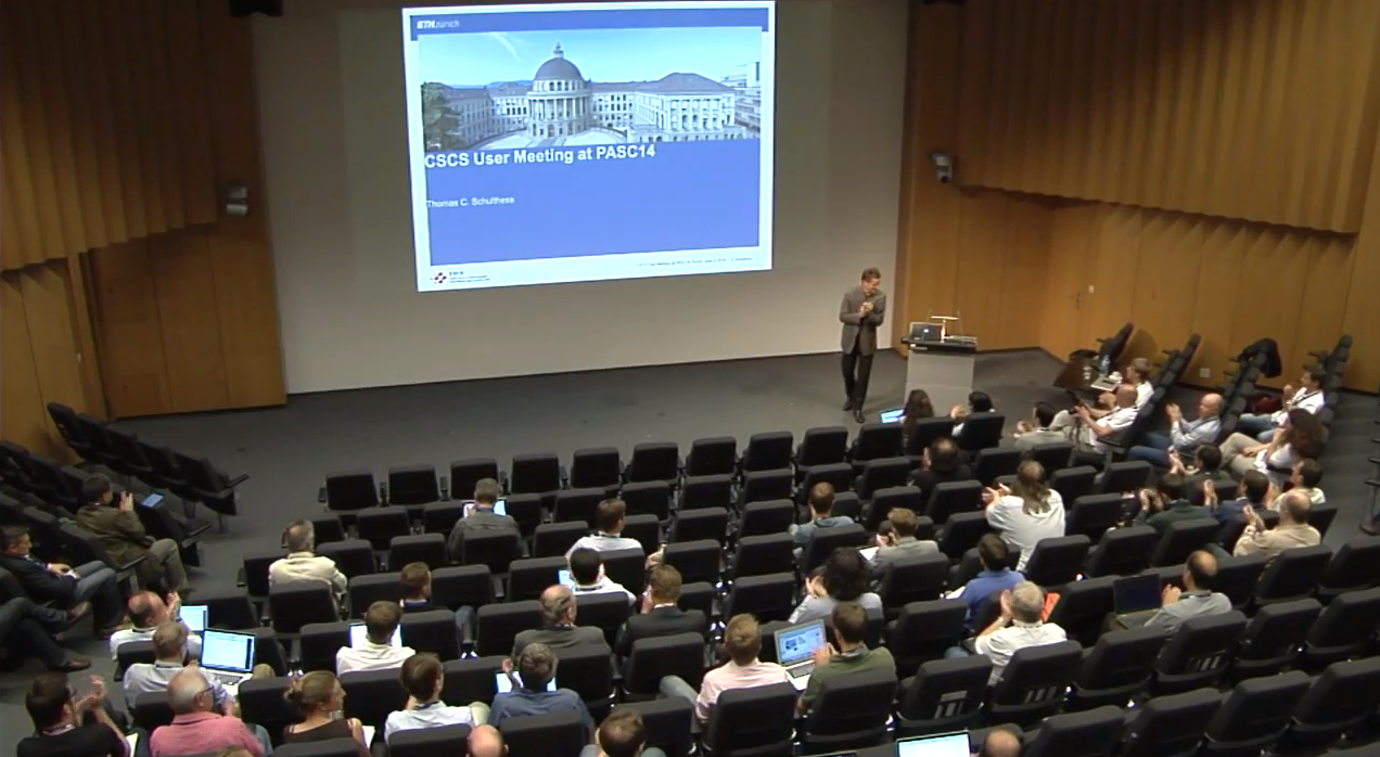 Slidecast from the CSCS User Meeting 2014