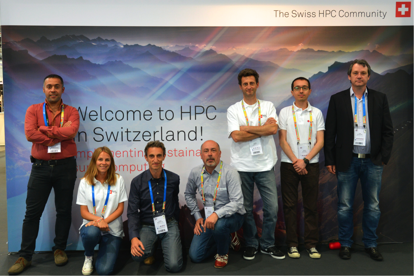 hpc-ch Booth Team at ISC14