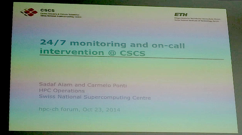 Slide cast: 24/7 monitoring and on call intervention @ CSCS