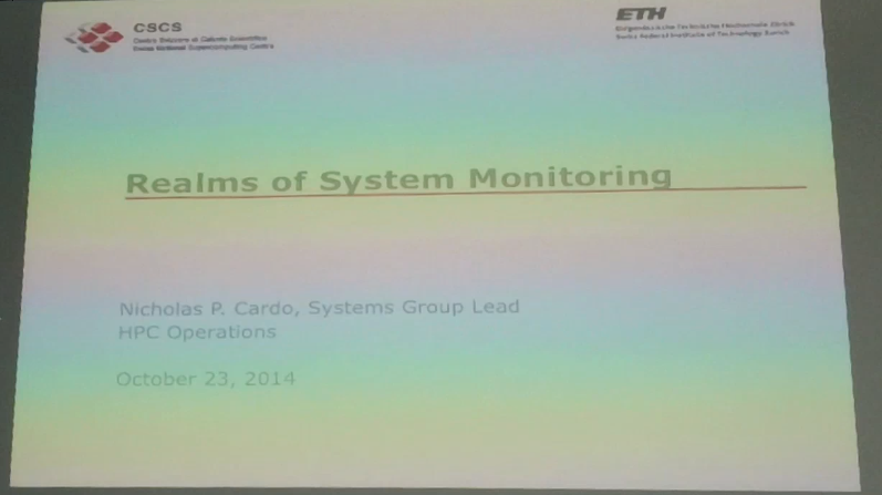 Slide Cast: Realms of System Monitoring, Nick Cardo (CSCS)