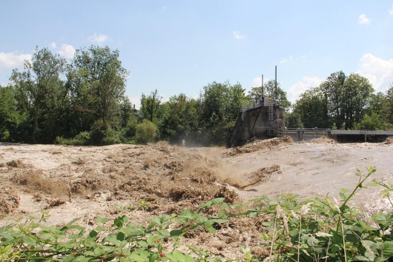 Flash flood in Emmen summer 2014 (credit: AZ Solothurner Zeitung/ Simon Binz).