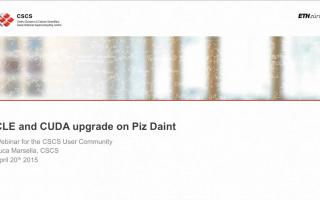 Webinar CUDA CLES Upgrade