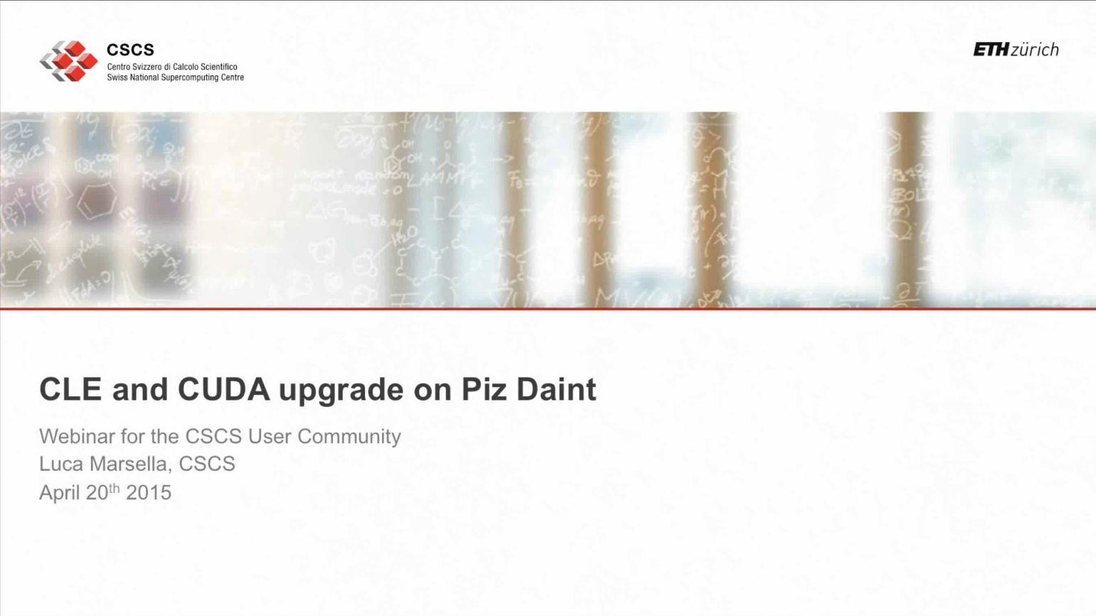 Video: Webinar on the CLE5.2.UP02 and CUDA6.5 upgrade