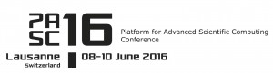 PASC16 Conference, 8-10 June 2016, Lausanne