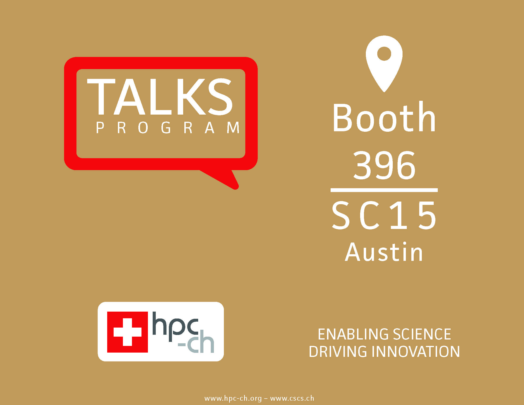 Short presentation at booth #396 @SC15 – Meet Swiss HPC