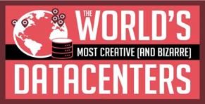 Info-graphic with World's Most Creative & Bizarre Data Centers