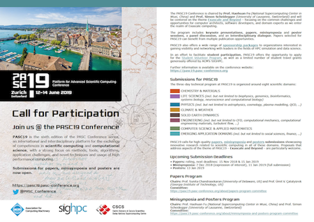 PASC19 – Call for Submissions