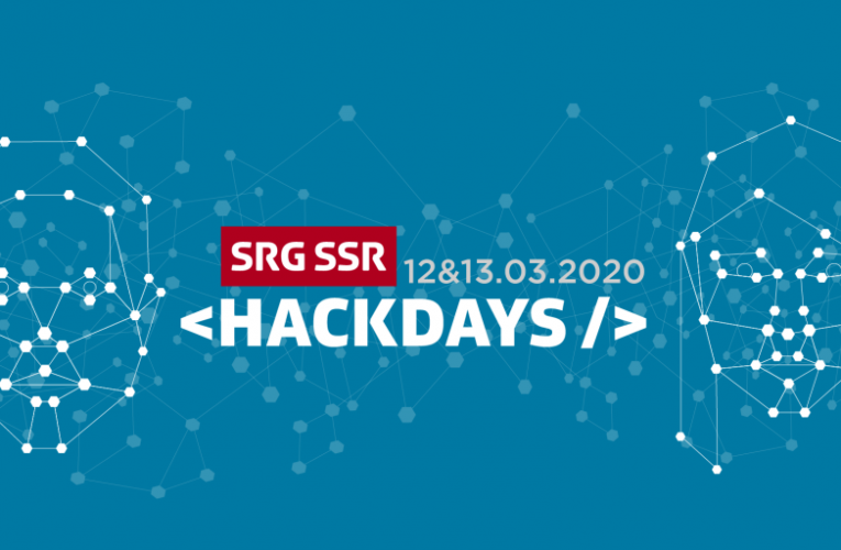 SRG SSR Hackdays 2020 – Open for Registration!