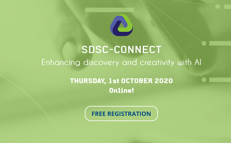 SDSC-Connect 2020 – Enhancing Discovery and Creativity with AI – Online Format